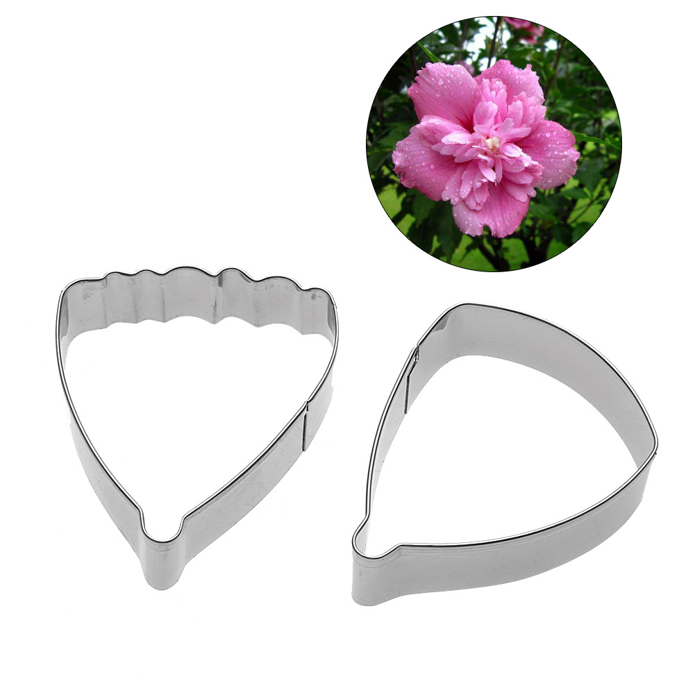 Stainless steel hibiscus flower petal shape clay cutter diy design stainless steel hibiscus flower petal shape clay cutter diy design polymer clay artificial floral cutting mold in clay molds from home garden on izmirmasajfo