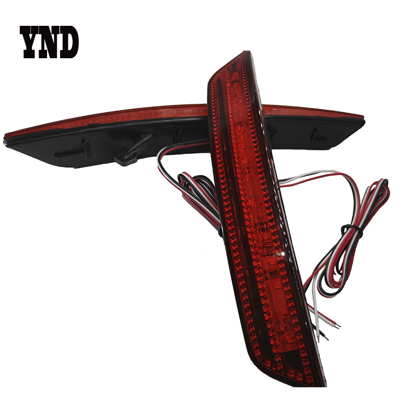 YND for 2008 2009 2010 Ford Mondeo Sedan LED Red Lens Rear Bumper Reflector Light  Fog Brake Light Running Reversing Tail Lamp rear fog lamp spare tire cover tail bumper light fit for mitsubishi pajero shogun v87 v93 v97 2007 2008 2009 2010 2011 2012 2015