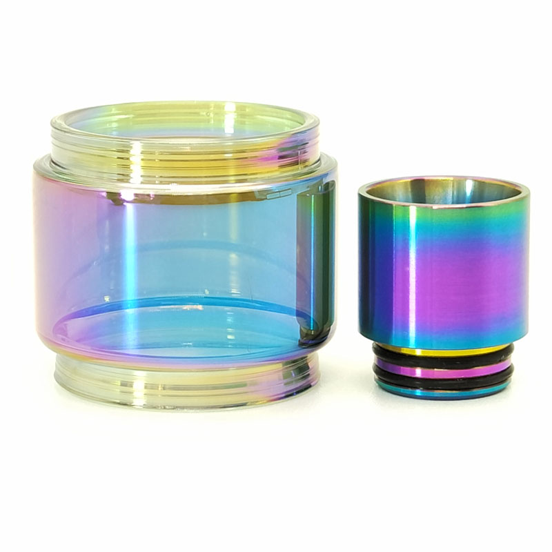 TFV12 Prince Rainbow Glass Tube And Stainless Steel Material 810 Drip Tip For TFV12 Prince Atomizer