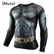 iMucci New Fashion Fitness Compression Shirt Men Superman Bodybuilding Long Sleeve 3D T Shirt Crossfit Tops Shirts
