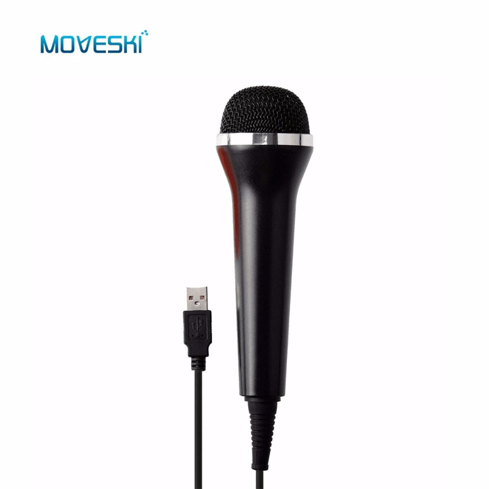 Moveski Universal USB Wired Microphone Controller for Switch PS4 Pro PS3 Xbox One S Xbox 360 Wii PC RockBand Guitar Hero Karaoke
