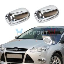 CITALL 2Pcs Chrome Windshield Washer Wiper Water Spray Nozzle Trim Cover Protector For Ford Focus Mk3 Models 2011 2012 2013 2014