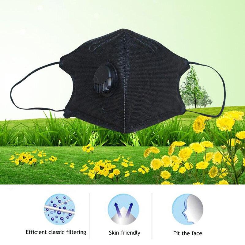Image 5 - 10 sztuk/partia PM2.5 usta maska Anti Dust Breath zawór maski Anti Haze jednorazowe maski maski ochronne do ochrony twarzy GKZ008Maski   -