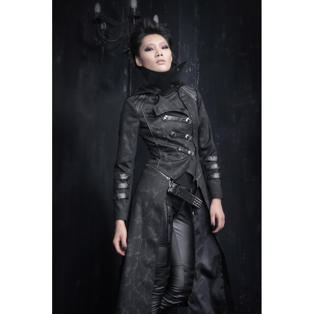 Punk Rave Moda Mujeres Punk Streampunk Visual Kei Gótica Larga y corta Chaqueta