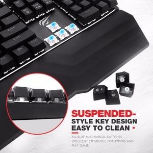 Image 3 - HAVIT mekanik klavye 104 tuşları mavi anahtarı kablolu oyun klavyesi RGB ışık Anti Ghosting rusça İngilizce klavye HV KB432L
