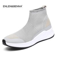 Women Casual Shoes 2018 New Arrival Women Fashion Breathable Sock Shoes Flat Platfom Slip On Loafers