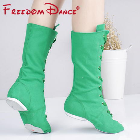 Kvalitet Cloth High Jazz Dance Boot Stage Dance Boots Piger Kvinder - Kondisko - Foto 6