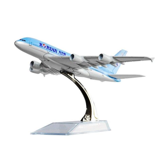 Korean Air A380 Plane Model,16CM, Aircraft Models Birthday Gift 1:400 Free