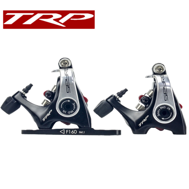 TRP Spyre Flat Mount Mechanical Dual Side Actuation Road Disc Brake Caliper SPYRE Front 160mm Rear 140mm, w/ or w/o Rotor