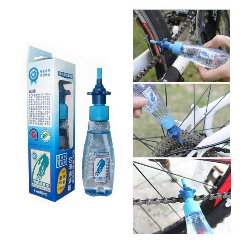 60ML MTB Chain Lube Lubricat Cycling Lubrication Maintenance Oil Bicycle Bike Lubricating Oil Lube Cleaner Repair Tool Greas qilejvs 50ml bicycle chain special lube lubricat oil cleaner repair grease mtb cycling lubrication large capacity