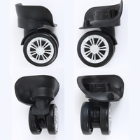 A Pair Set Trolley Case Wheel Repair Universal Travel Suitcase Parts Accessories Luggage Wheel Replacement Universal