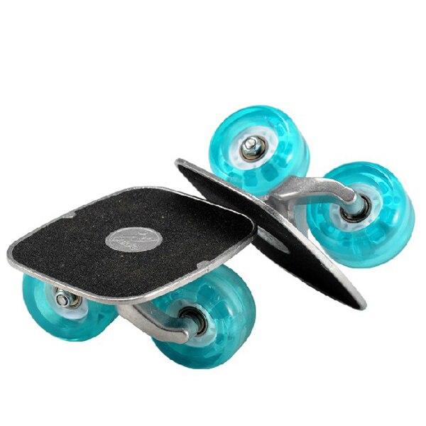 Pair Free Line Skates Drifting Roller Skating Flashing Wheel With Wrench