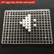 1 Satz Der Inkubation Ausrüstung Teile 49,5*36 cm * 3 cm Weiß Kunststoff 221 Wachtel Vogel Eierablage universelle Durable