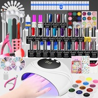 24W UV Lamp Nail Gel Set Various Combinations All for Nails Beginner Colorful Nail Polish Manicure Pedicure Tools