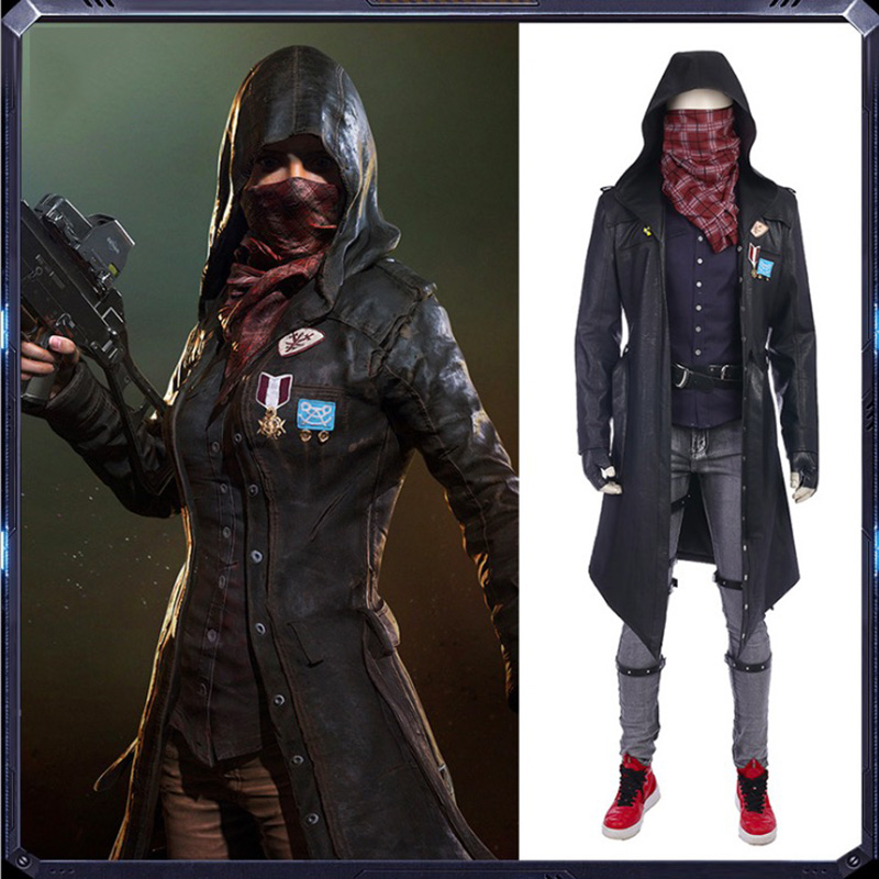 Game PUBG Cosplay Costume Eating Chicken Windbreaker Cosplay Costume Halloween Carnival Party Customized