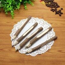 36 stk/partij milieubescherming houten balpen/natuur tak potlood/bark pen/afbreekbaar pen