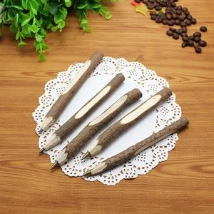 Image 1 - 36pc/lot Environmental protection wooden ball point pen / nature branch pencil / bark pen / degradable pen