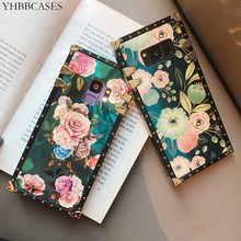 YHBBCASES Retro Flowers Phone Cover For Samsung Galaxy S10 Plus S10e Blu-ray Floral Soft Case S8 S9 Note 10 8 9