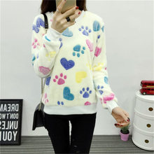Fleece Women 2017 Brand Haer Print Autumn Long Sleeve Tracksuit Women Hoody Harajuku Kawaii Emoji Cute Pullover Sweatshirt Tops(China)