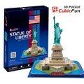 Кэндис го! Горячая распродажа 3d-головоломка игрушка CubicFun 3D бумажная модель игрушки головоломки игра знаменитая статуя свободы