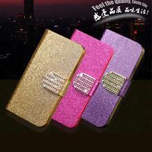 Case Для Huawei Ascend P6 Книга Флип Девушки Женщин Блестящий кожа Кожа Стенд Case Для Huawei Ascend P6 P6S Бумажник крышка