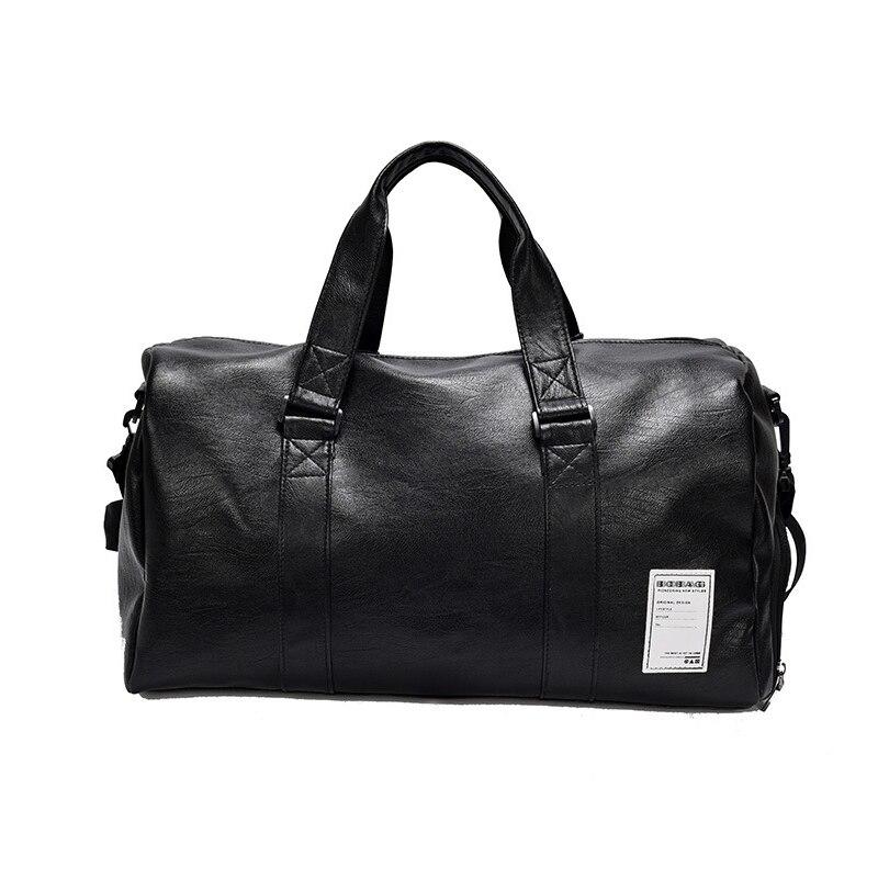 PU Leather Travel Bag Male Big Duffel Bag for Women Black Cool Zipped Shoulder Bags Vintage Man Messenger Bags Duffel Package duffel bag for ultimate lockout kit