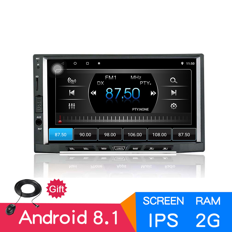 "7"" IPS Android 8.1 2GB 16GB 2din OctaCore Car radio GPS audio stereo 1024x600 autoradio Bluetooth AM/FM/RDS Multimedia universal"