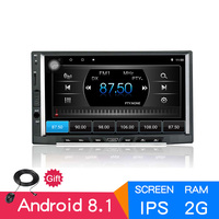 7 IPS Android 8.1 2GB 16GB 2din OctaCore Car radio GPS audio stereo 1024x600 autoradio Bluetooth AM/FM/RDS Multimedia universal