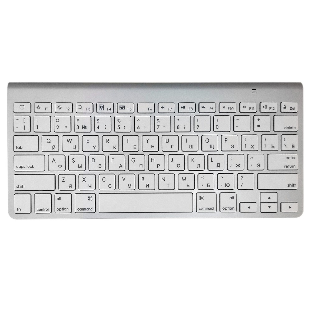 Russian Bluetooth Keyboard Ultra-Slim Mute Wireless Keyboard Scissor Key For Wireless Apple Keyboard Style for IOS WIN Android for apple wireless bluetooth us keyboard for imac g6 100