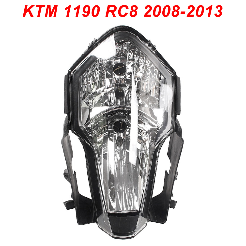 For 08-13 KTM KTM 1190 RC8 Motorcycle Front Headlight Head Light Lamp Headlamp Assembly CLEAR 2008 2009 2010 2011 2012 2013