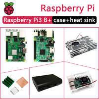 In Stock New Raspberry PI 3 Modello B +/B Cornici e articoli da esposizione Include Raspberry Pi 3 Modello B/B PIÙ & Case & Dissipatore di Calore