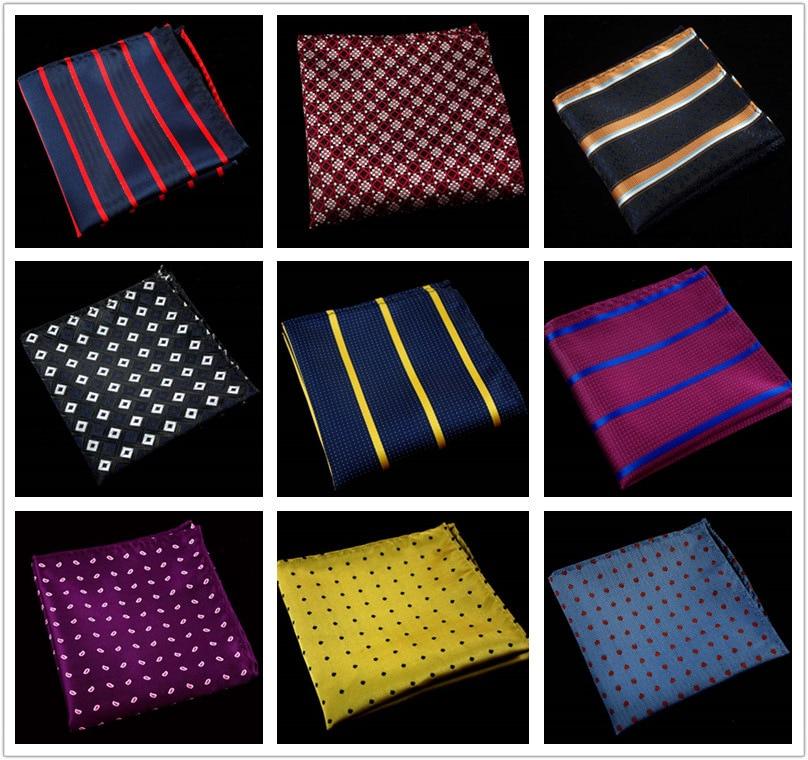 Fashion Polysester Silk Hanky Paisley Business Men Plaid Pocket Square Wedding Party Handkerchieves For Men Suit  Handkerchief