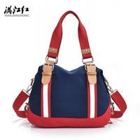 2017 New Canvas Women Messenger Bags Louis Handbags Large Capacity Tote Fashion Shoulder Bag Casual Beach