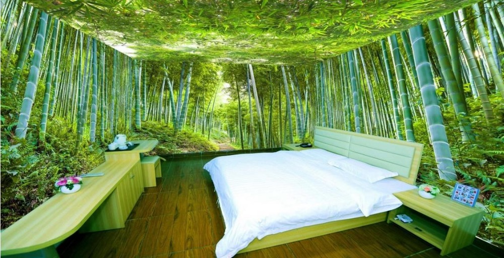 Popular landscape bamboo buy cheap landscape bamboo lots for Bamboo forest mural wallpaper
