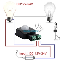 OOTDTY Automatic DC 16-30V 10A Infrared Body PIR Motion Detector Sensor Switches MY25_45