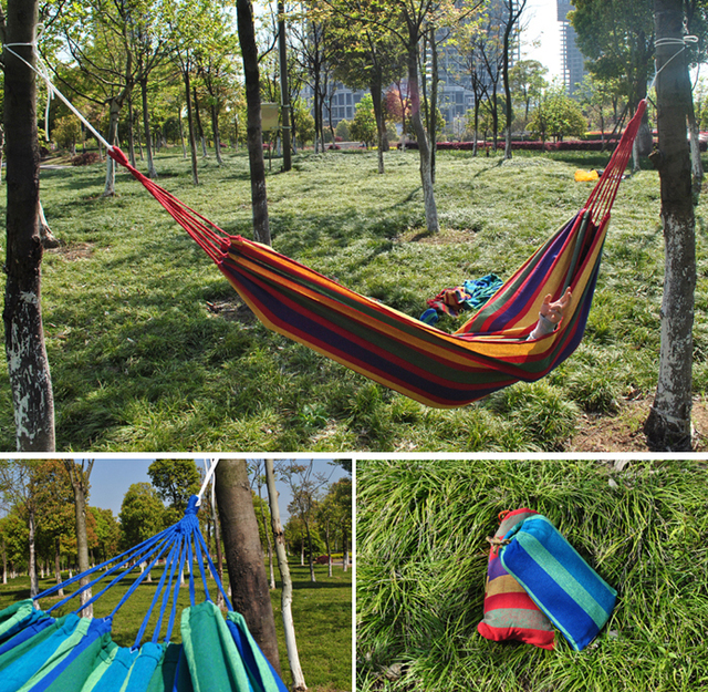 2 person hammock outdoor canvas furniture sleeping hanging chair swing bed 195x150cm random color 2 person hammock outdoor canvas furniture sleeping hanging chair      rh   aliexpress