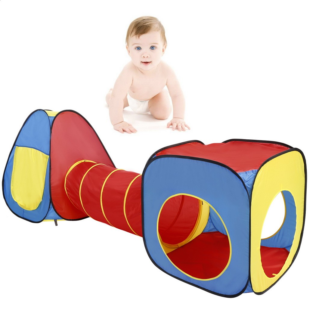 Hot sale 3 In 1 Indoor Kids Playing Tent Play House Tunnel Tents Ball Pit Toy Free shipping USA by UPS
