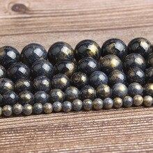 LanLi, модные натуральные ювелирные изделия, Черное золото, цветной камень, свободные бусины, сделай сам, женский браслет, ожерелье, серьги-гвоздики, аксессуары
