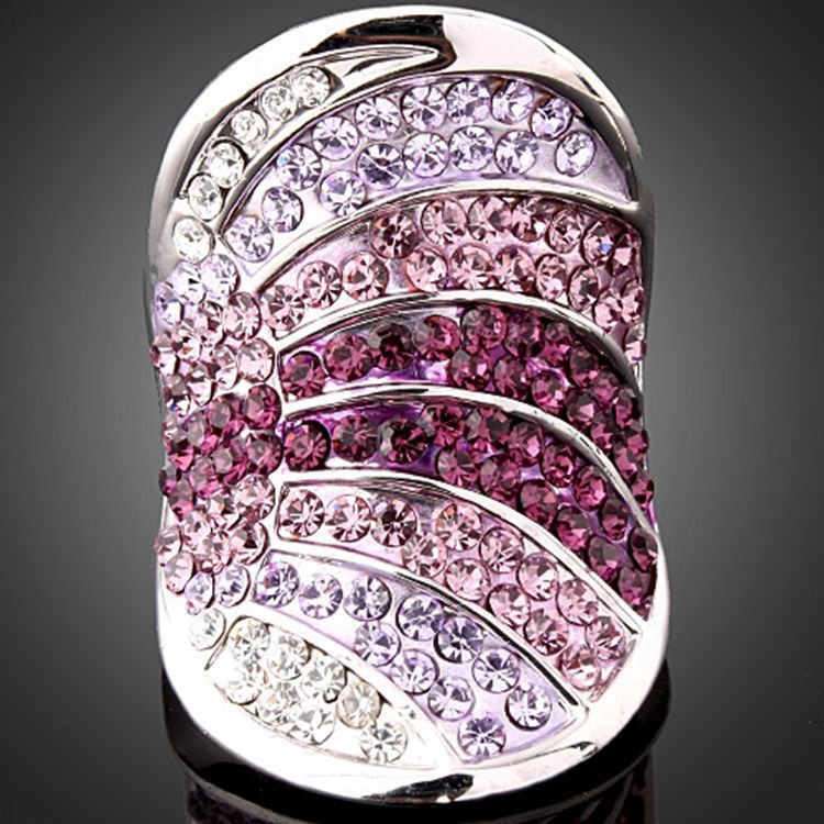 wholesale Fashion Jewelry The burst models gold zircon Crystal from Swarovski jewelry ring ring for woman