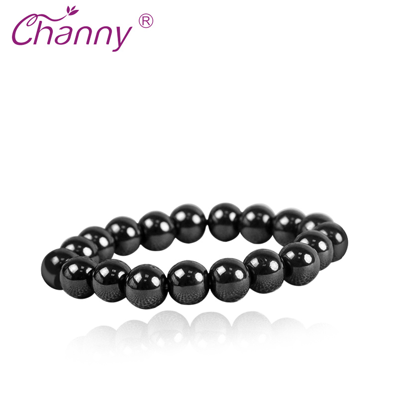 Channy 1 Pc Magnetic Therapy Bracelet Black Stone font b Weight b font font b Loss