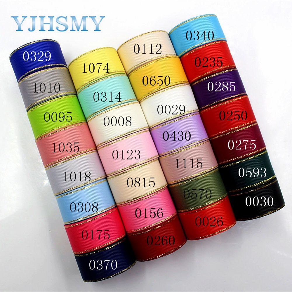 YJHSMY D-171226-336,25 mm 10 yards Phnom Penh double-sided ribbon Thermal transfer grosgrain Wedding Accessories DIY material