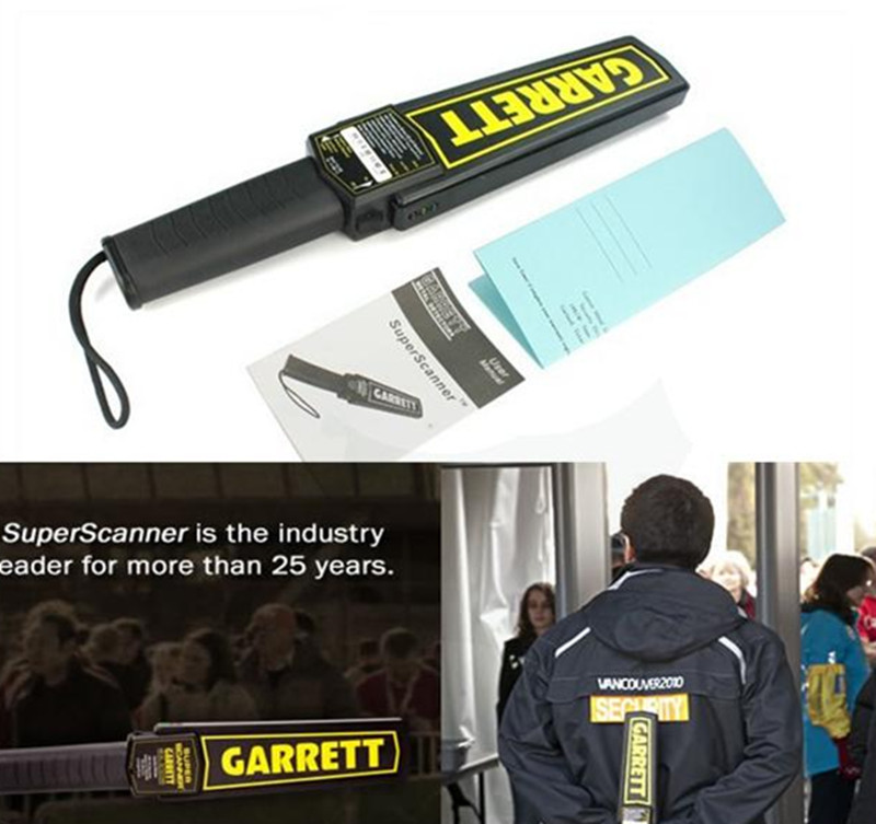 High Sensitivity Garrett Super Scanner Hand Held Metal Detector with LED indicate For Security Detectors