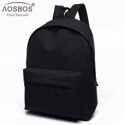 Femmes hommes hommes toile noir sac à dos collège étudiant école sac à dos sacs pour adolescents Mochila sac à dos décontracté voyage sac à dos