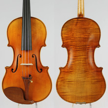 Guarneri 1744 'Ole Bull' Violin Copy, Old Spruce, Full Size Violin.Powerful tone !1 PC Back! Beautiful Flame Maple!