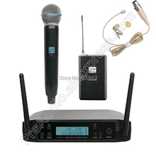 MICWL UHF 610-650MHz Frequency Adjustable 1 Handheld Beige Lapel Wireless Microphone System For Karaoke Church Club