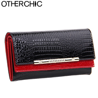 2 Folders Women Elegant Fashion Retro Wallets Vintage Genuine Leather Wallet Woman Clutch Purse Female Purses