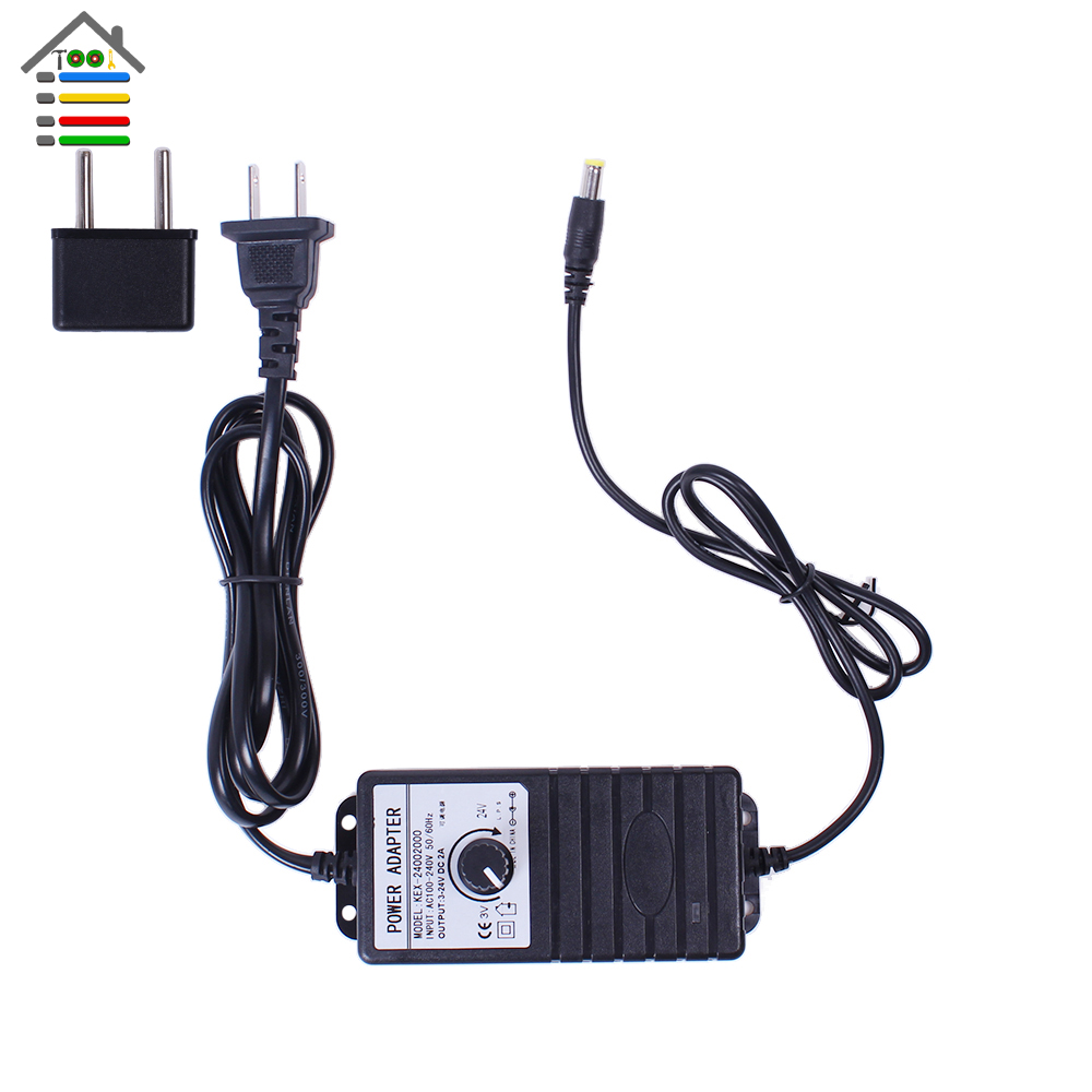 Autotoolhome adjustable dc 3 24v 2a adapter power supply for Power supply for 24v dc motor