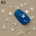 T83 800pcs/lot CHEAPEST! 2014 Fashion 3D Gold Metal butterfly Nail Art Decoration/3d metal DIY Nail Art/Nail Salon Wholesales