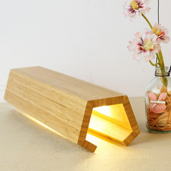 YWXLight Modern Nordic Simple Solid Wood LED Lights Dimmable Timing USB Living Room Bedside Reading Lamp Decorative Night Lights