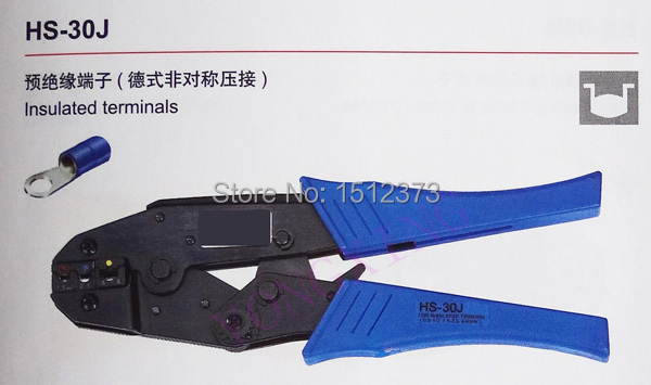 ФОТО 1 Piece Ratchet crimping plier HS-30J high quality 0.5-6Square mm2